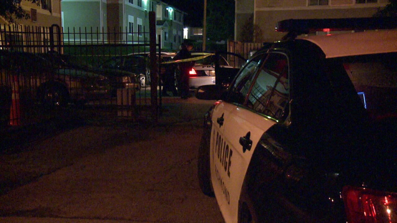 Woman, man shot standing outside Richmond apartment complex