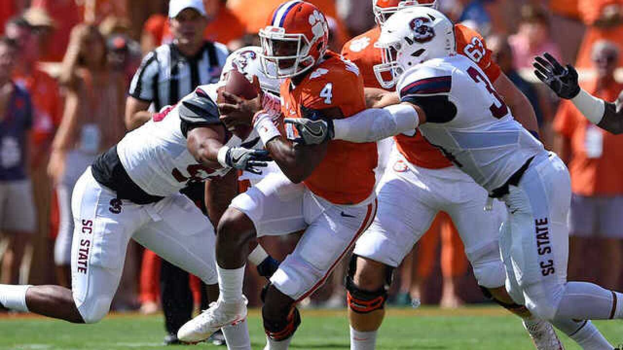 Clemson-SC State football game shortened after 45-0 start
