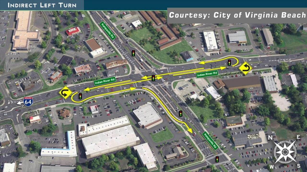 'Most congested intersection' in Virginia Beach gets a facelift