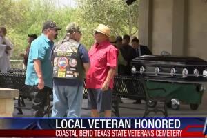Community attends veteran's funeral