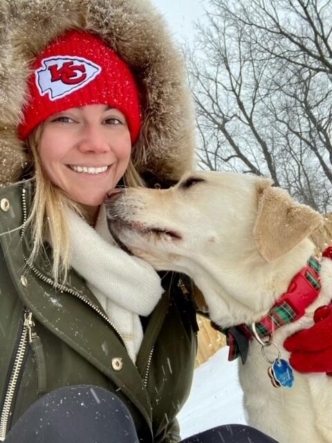 Rebecca and dog in Northland.jpeg