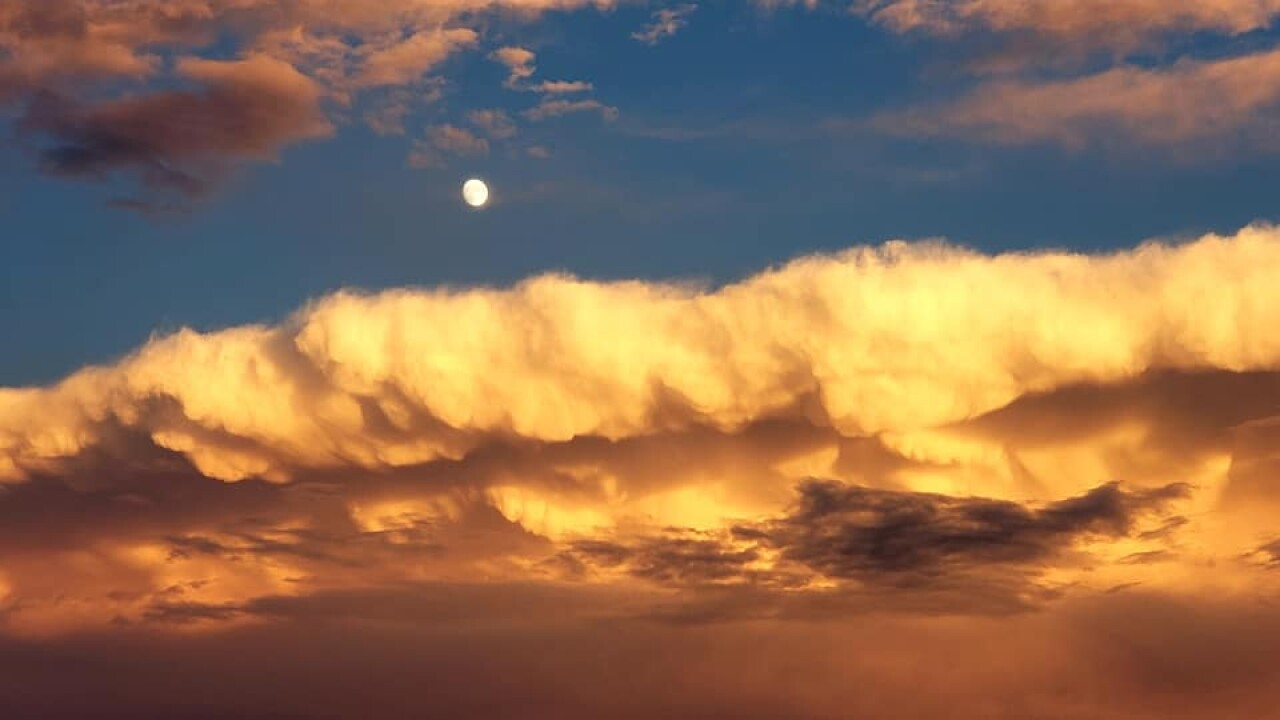 clouds sunset and moon Cindy Rotz