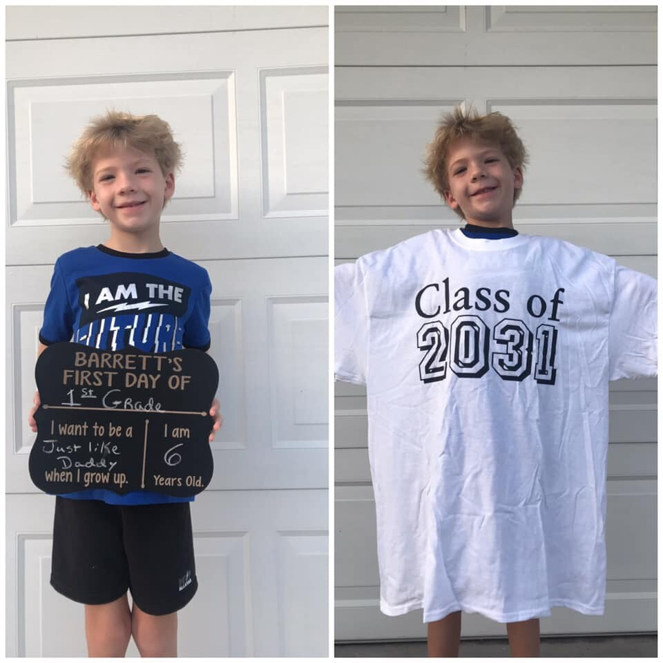 Barrett is ready to conquer 1st grade!