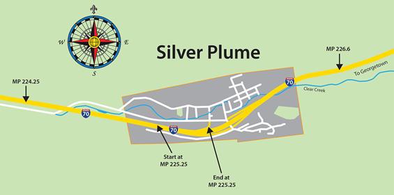 Silver Plume I-70 ramp closure 2019