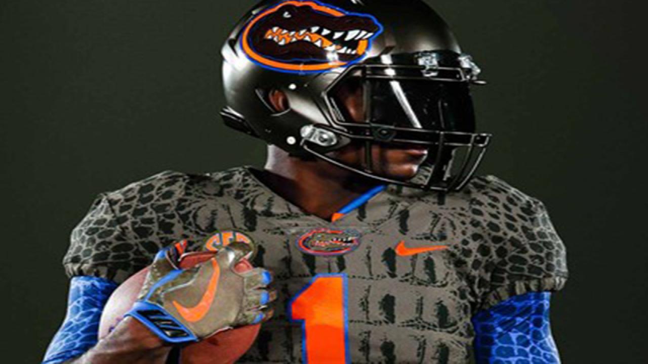 Florida's new uniforms look like alligator skin