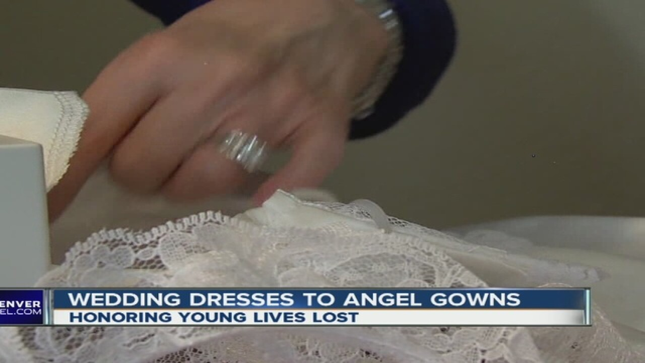 Colorado woman turns wedding dresses into 'angel gowns'