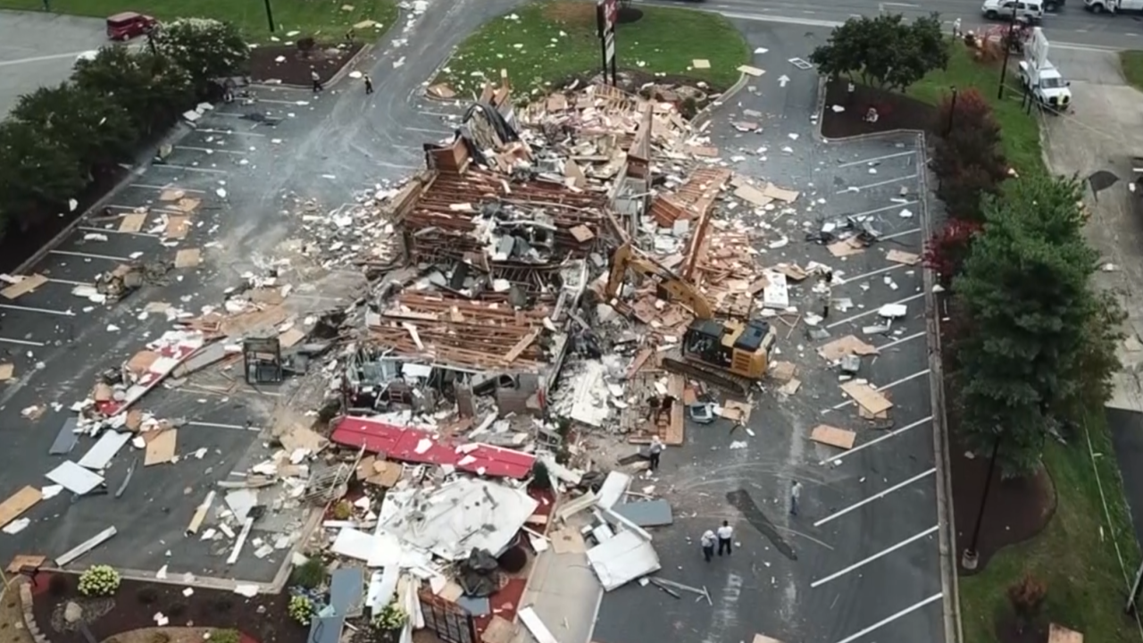 Video captures an explosion that leveled a North Carolina KFC