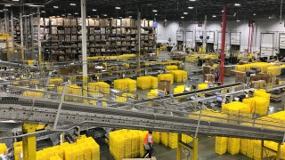 Amazon Fulfillment Center Busy On Cyber Monday