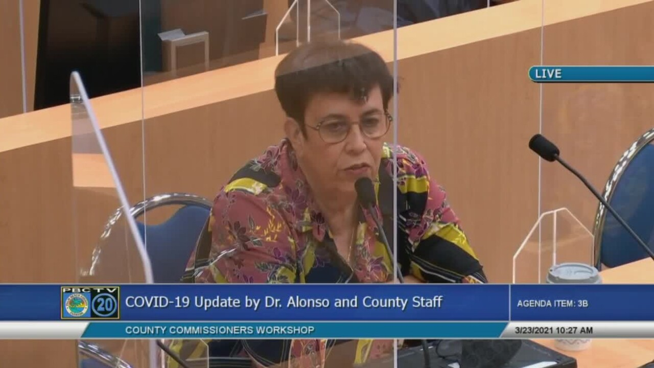 Palm Beach County health director Dr. Alina Alonso speaks about COVID-19 variant cases on March 23, 2021.jpg