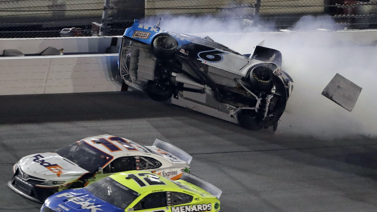 NASCAR's Daytona 500 ends with dramatic car crash