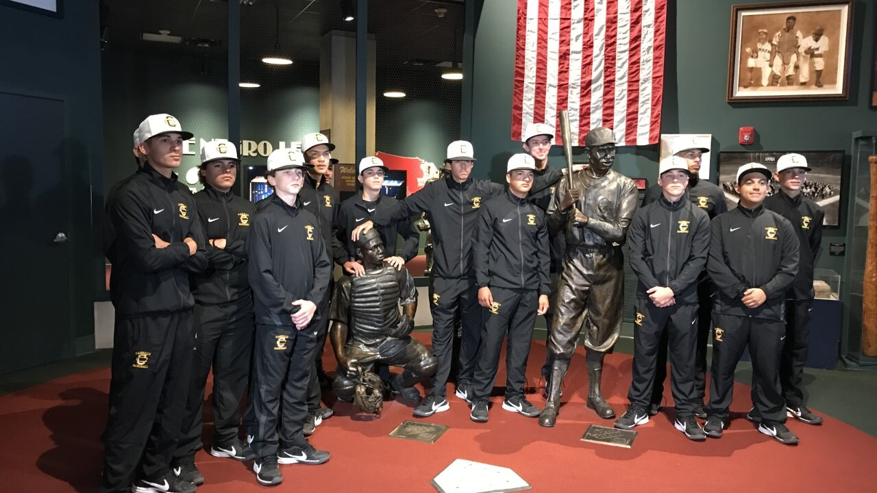 Cabrillo High School Baseball team Danny Duffy Alma Mater at Negro Leagues Museum