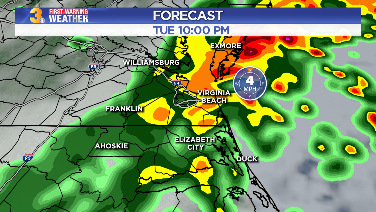 First Warning Forecast: Moderate to heavy rain will continue thisevening