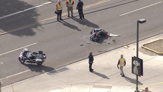 Motorcycle crash near 51st Avenue and Watkins