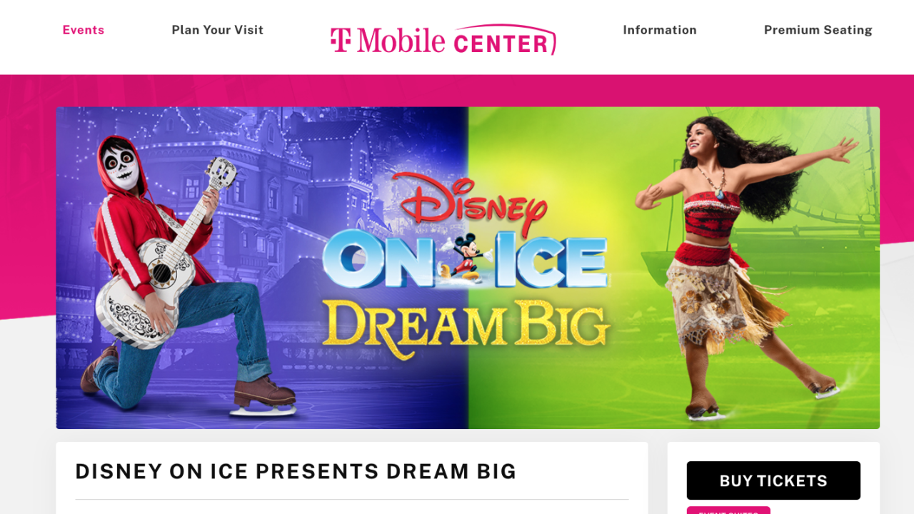 Disney on Ice at T-Mobile Center