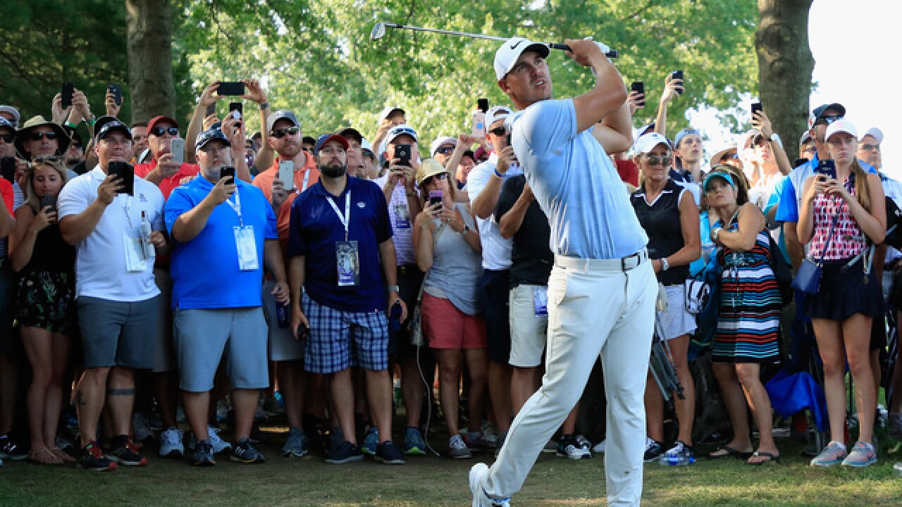 Brooks Koepka takes two-shot lead over Scott into Sunday at PGA