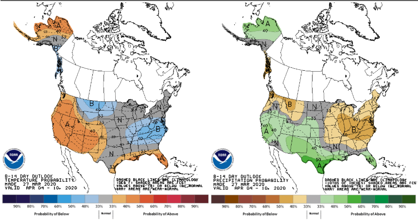 NOAA CPC 8-14 Day Outlook April 4-10TH