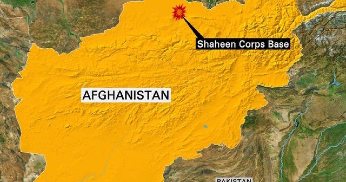fob lightning afghanistan map Taliban Attacks Afghan Base 100 Soldiers Killed Or Hurt fob lightning afghanistan map