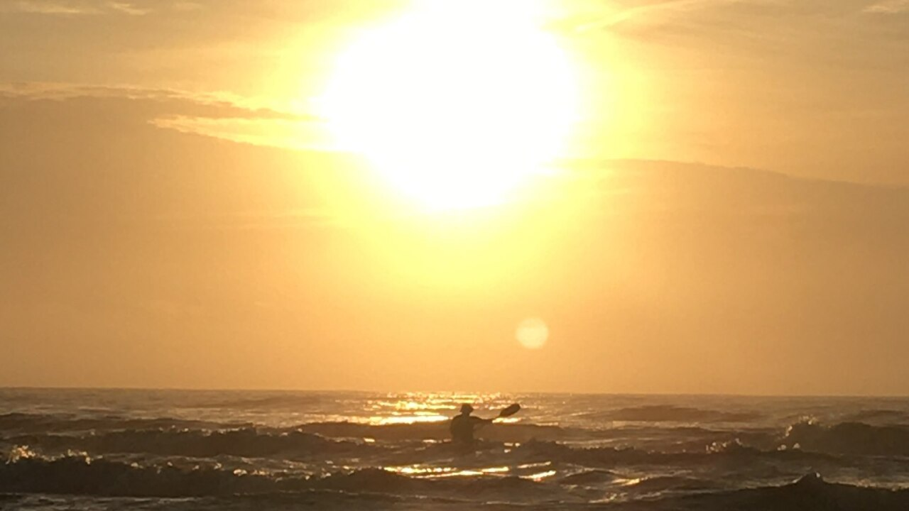 Sunshine at the North Padre Island Sea Wall - Photo By: FB Coastal Bend Weather Watcher Catherine Cross