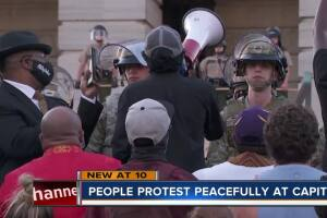 National Guard lays down shields during peaceful Nashville protest