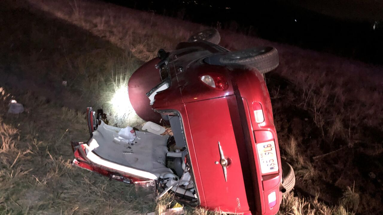 Woman critically injured after rollover crash on I-80 overnight