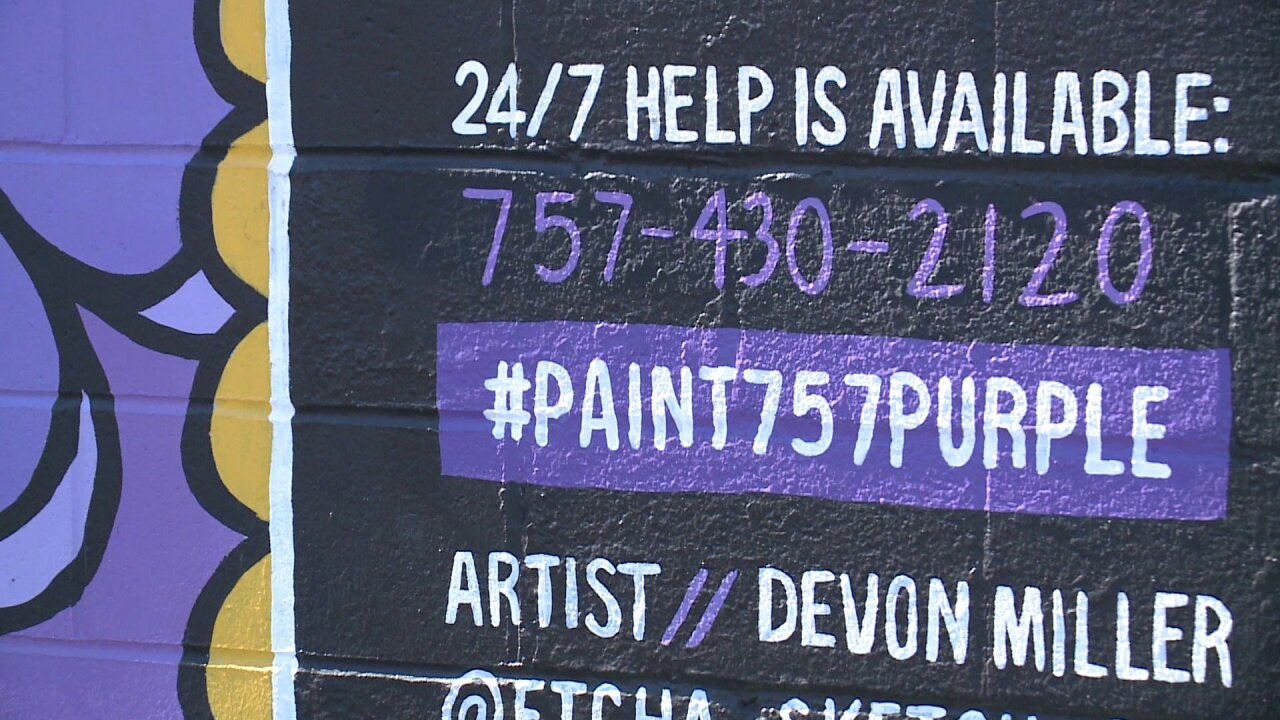 'Paint 757 Purple' campaign kicks off October 24, assisting victims of domesticviolence