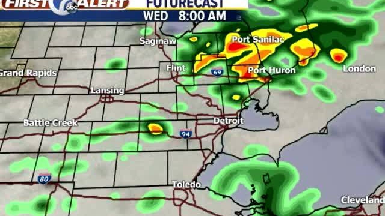 Metro Detroit Forecast: A few evening storms