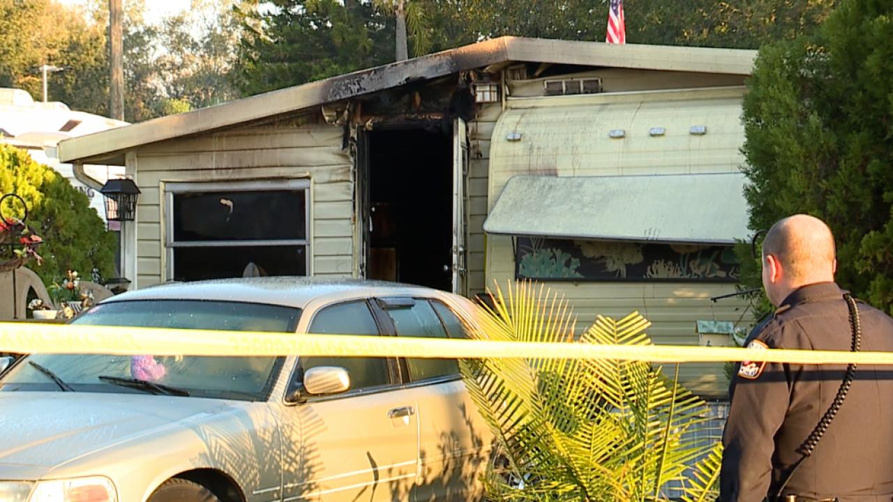 Largo mobile home fire