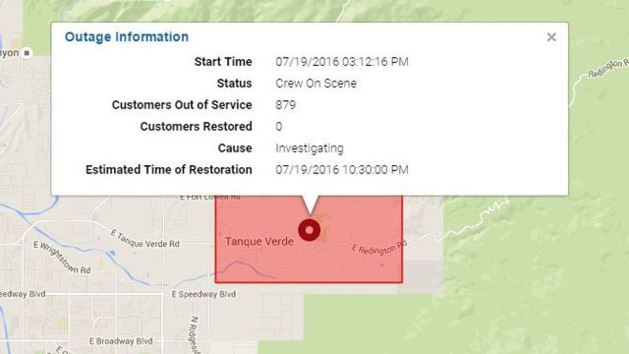 Thousands without power in Tucson
