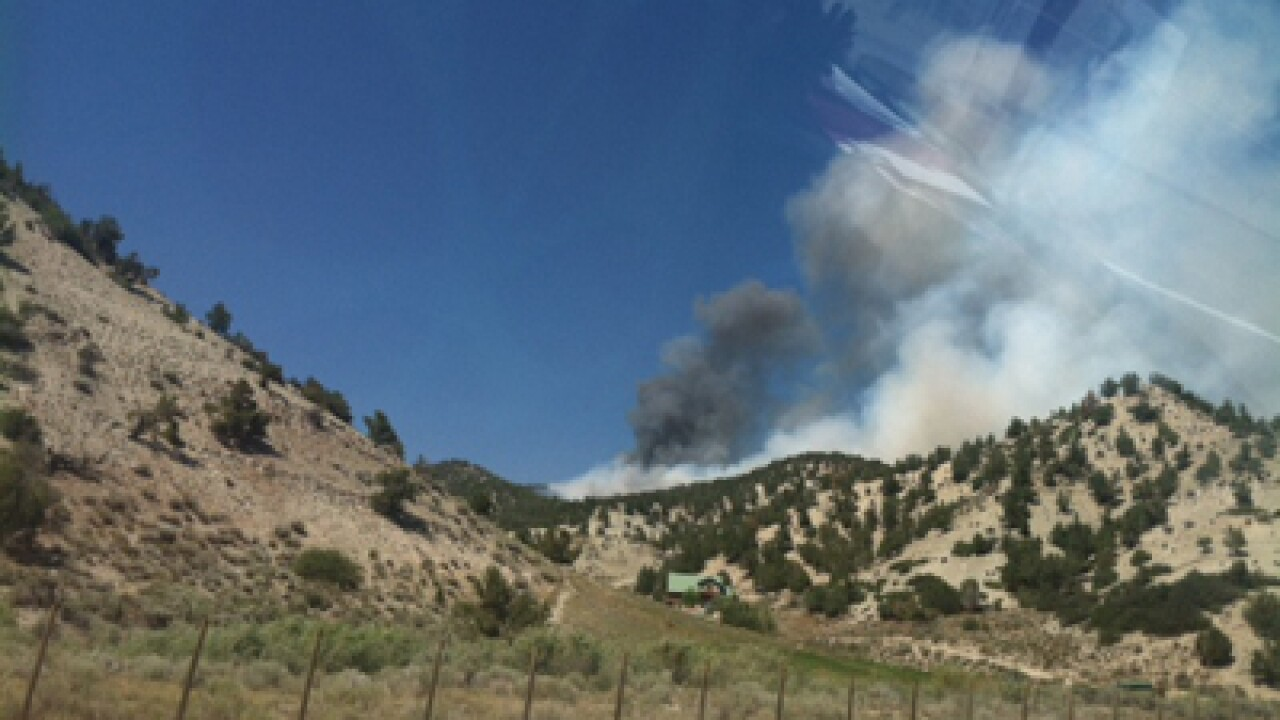 Spanish Fork Canyon fire burns 176 acres, 40 percent contained