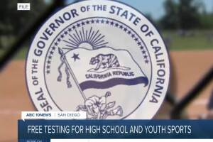 Free testing for California's high school, youth sports