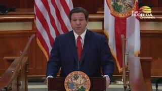 Gov. Ron DeSantis speaks on legislation to protect social media users