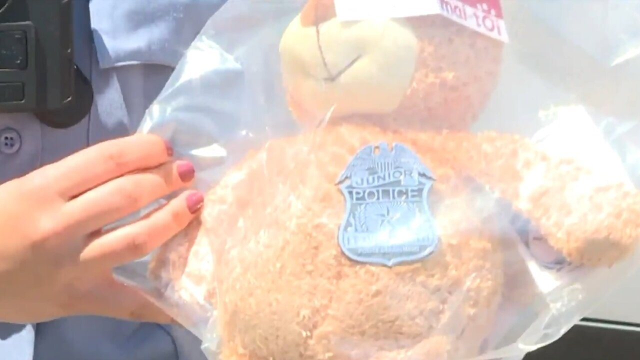A Kansas police officer is sharing care packages with victimized children to ease their pain