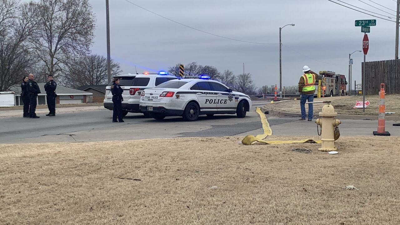 Gas line hit