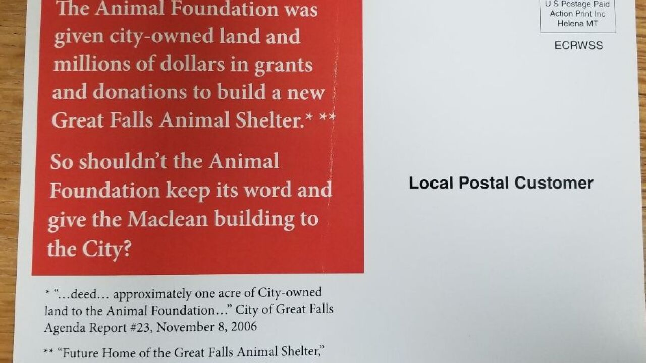 Anonymous mailer questions Maclean-Cameron Animal Adoption Center
