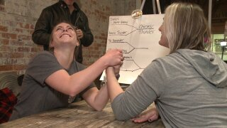 Ladies flex their muscles at Suffolk arm wrestlingtournament