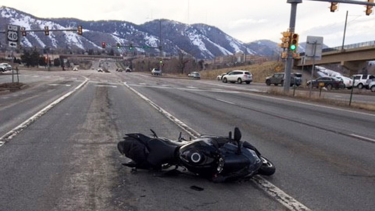 One motorcyclist dies in chain-reaction crash in Golden Sunday afternoon