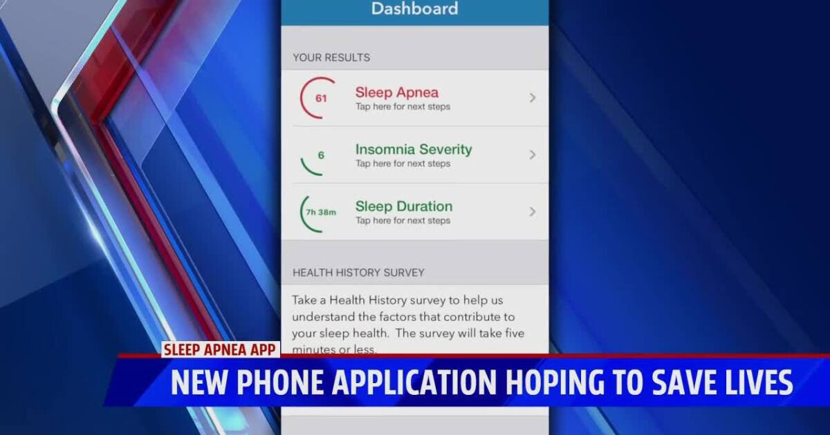 Woman develops new app after losing husband to sleep apnea