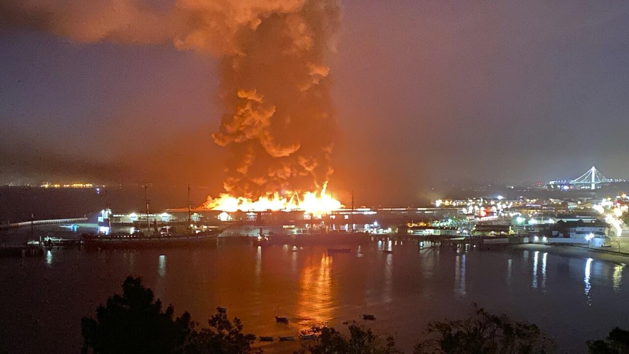 San Francisco Pier Fire