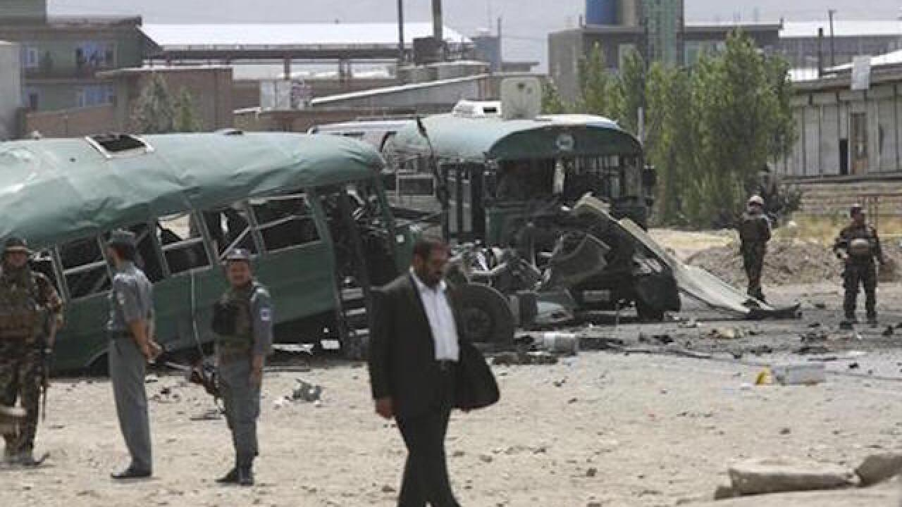 Official: suicide bomb attack kills 30 Afghan trainee police