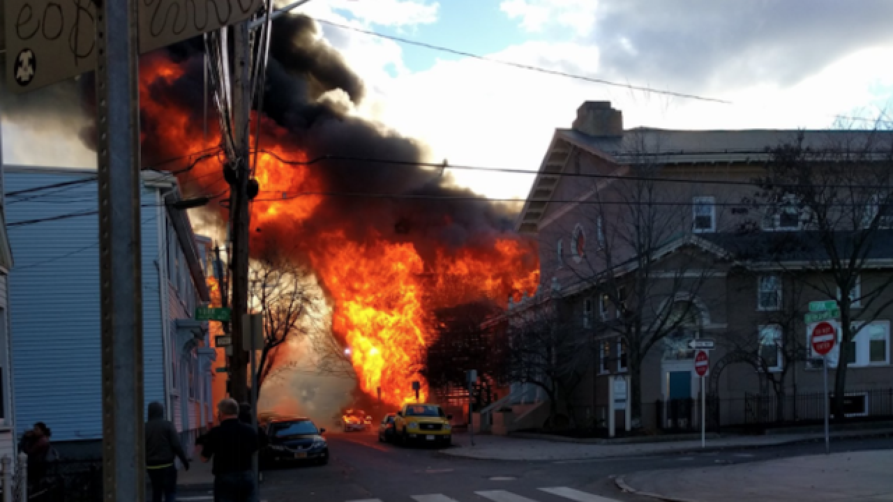 Firefighters battling 10-alarm fire in Massachusetts