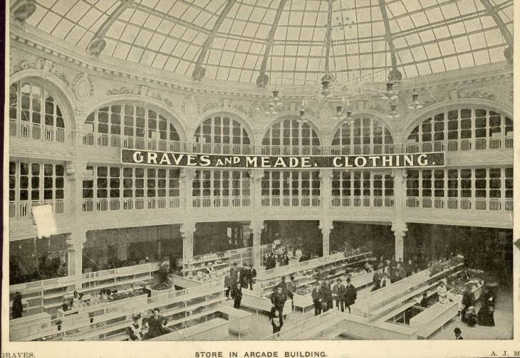 Graves and Meade Clothing Store inside Arcade Building