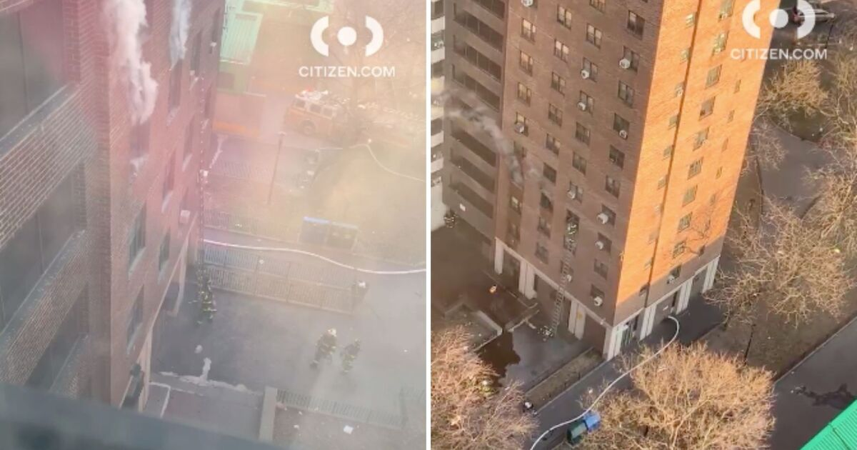 Fire breaks out in NYCHA high-rise apartment building in Washington Heights: FDNY