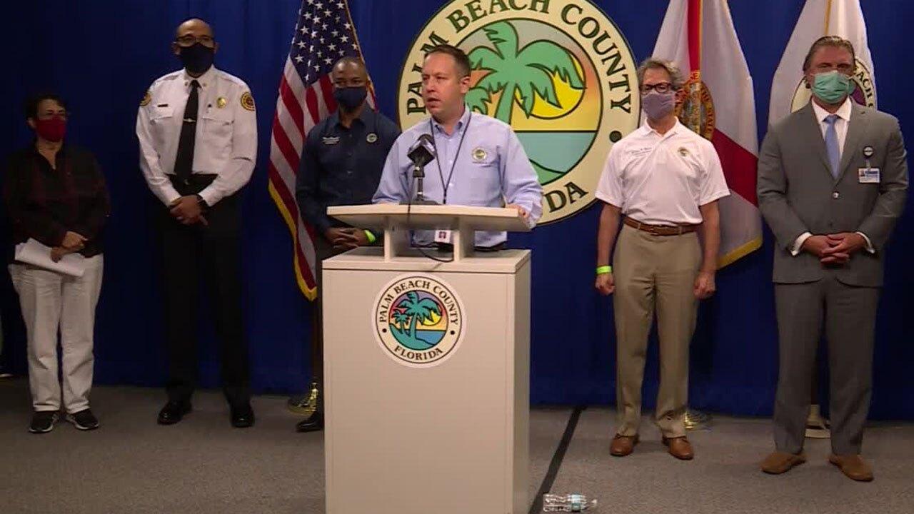 Palm Beach County Mayor Dave Kerner speaks Aug. 9, 2021 on COVID-19