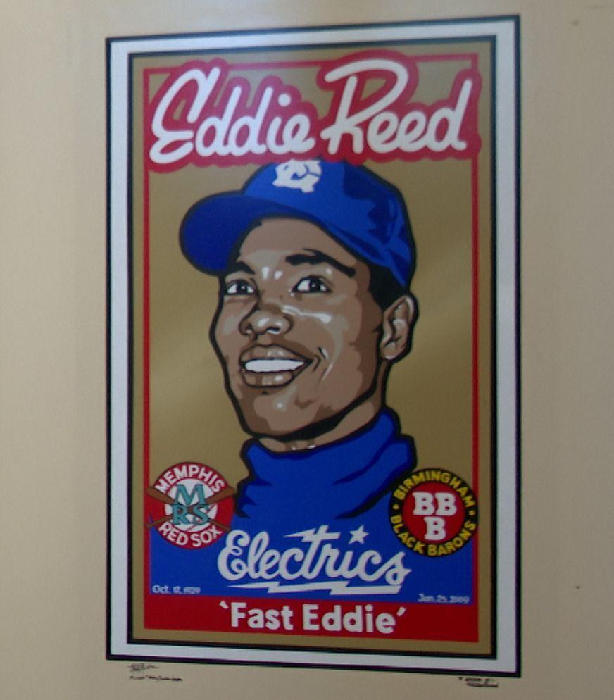 Mural of Great Falls baseball icon Eddie Reed