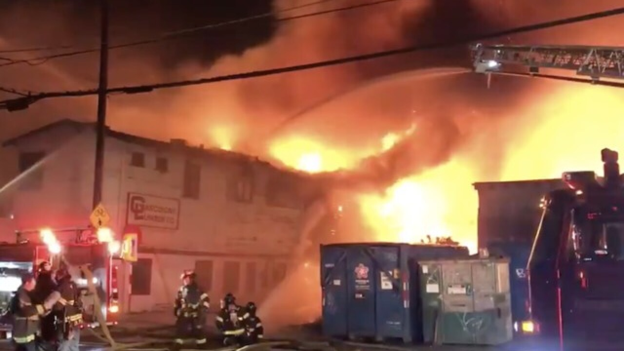 Massive warehouse fire raging in Seattle's Queen Anne neighborhood