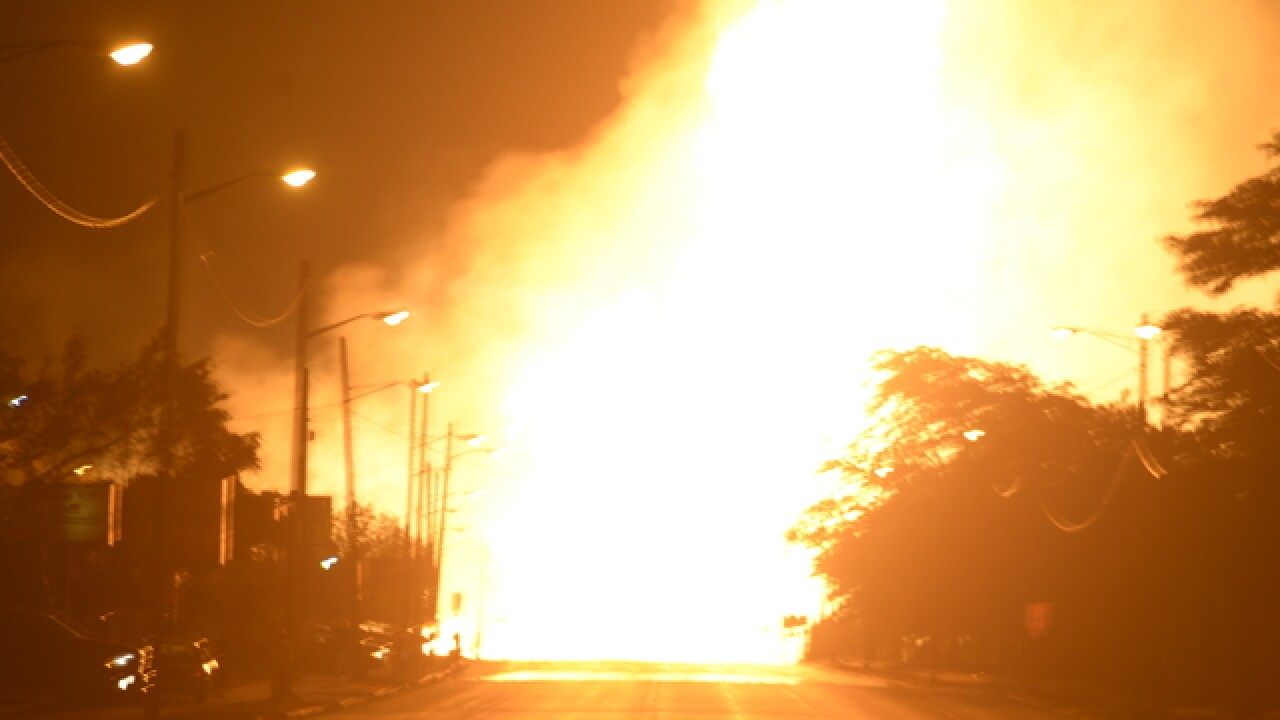 PHOTO GALLERY: Massive gas line explosion in Melvindale