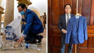 Rep. Andy Kim donates suit