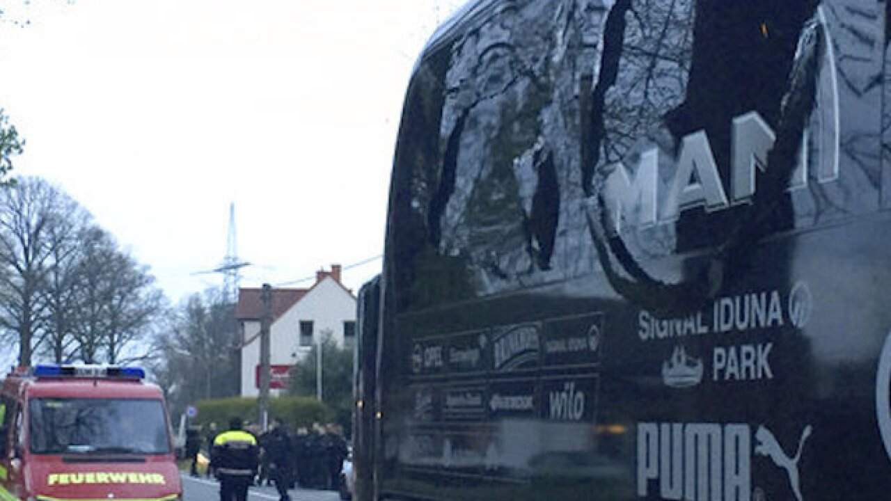 German soccer team reports explosion on team bus