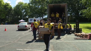 Salvation Army food pantry #WeSeeYouKSHB