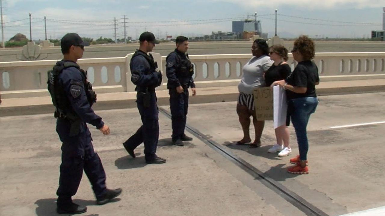 Protesters arrested on Tempe bridge